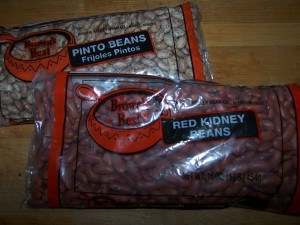 dried 'soup' beans are a acheap seed source