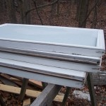 discarded windows to build a cold frame