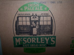 mcsorleys pale ale