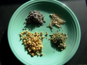herbs for tea and soap