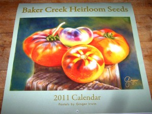bakers creek 2011 calender