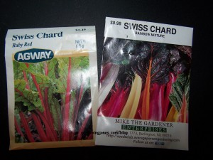 colorful chard seeds