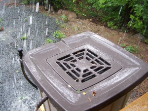 using a rain barrel