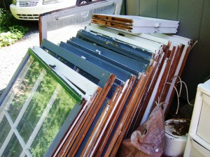re-purposing windows into a greenhouse
