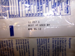 best by dates on food