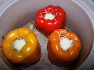 Crock pot stuffed peppers