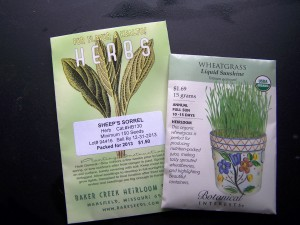 Wheatgrass and Sheep's Sorrel