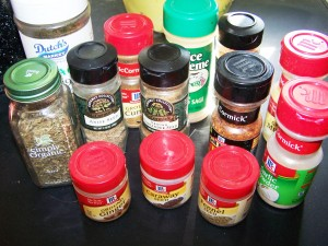 store bought herbs and spices