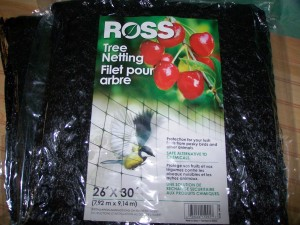 Get netting with opening 1 inch or less.