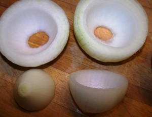 Making onion bowls