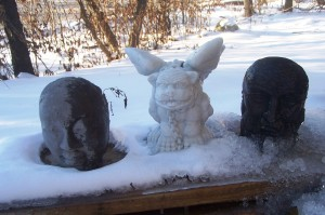 Even the Guardians of the Garden could not keep the polar vortex away.