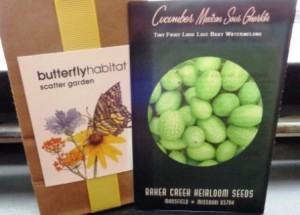Butterfly weed and Cucamelons