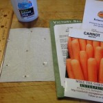 Gardening Jones looks at how and why to make seed tapes and mats.