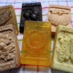 Gardening Jones is making soaps containing many ingredients from her own gardens as well as organically sourced.