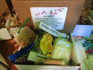 Handmade from Homegrown and all natural ingredients, Gardening Jones' Soap Box is being very well received.